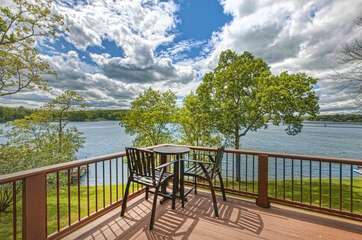Lake views from the deck of this lakeview Smith Mountain Lake rental