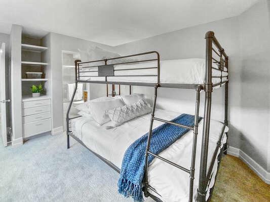 Bunk Room, Second Floor - Queen/Full XL Bunk Bed