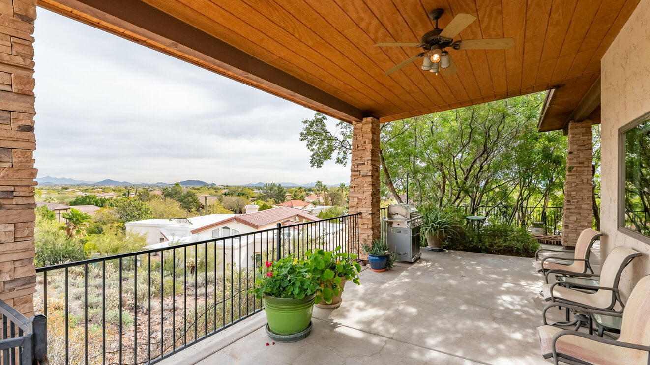Covered Patio with View