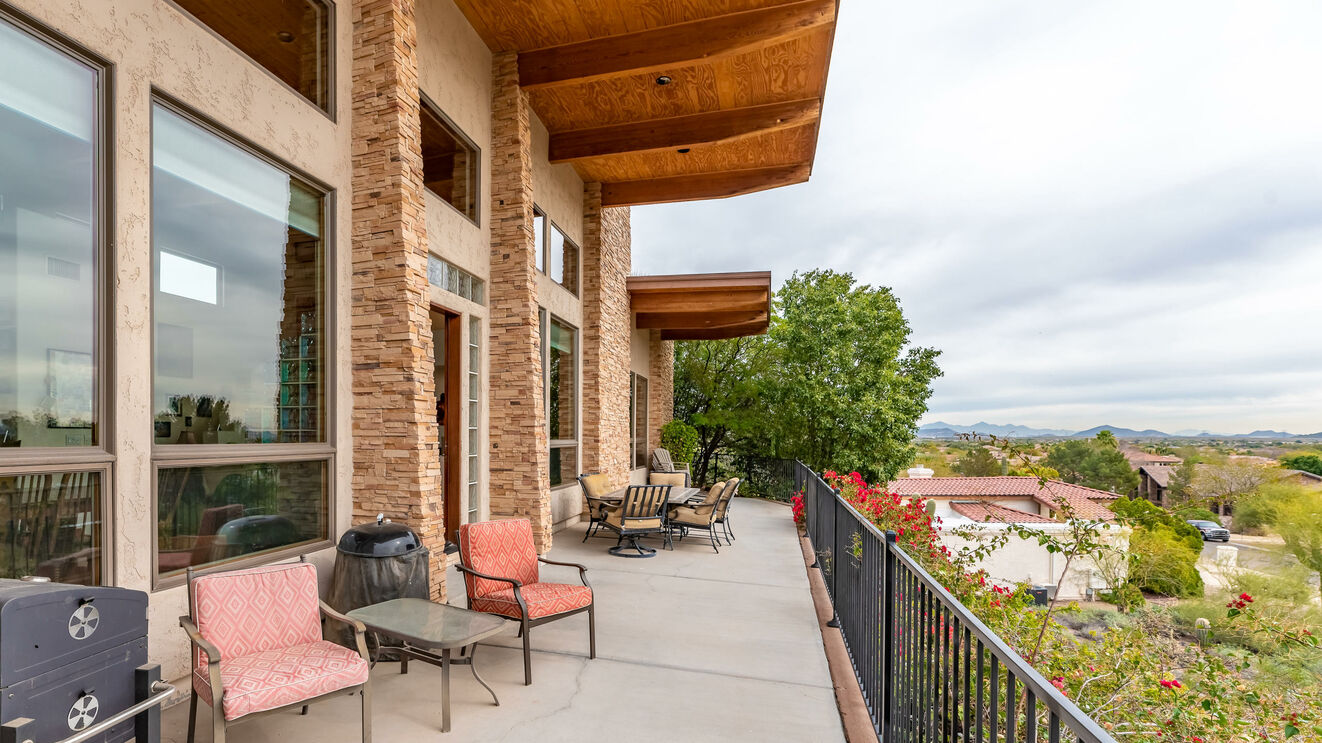 Expansive Balcony with Valley View