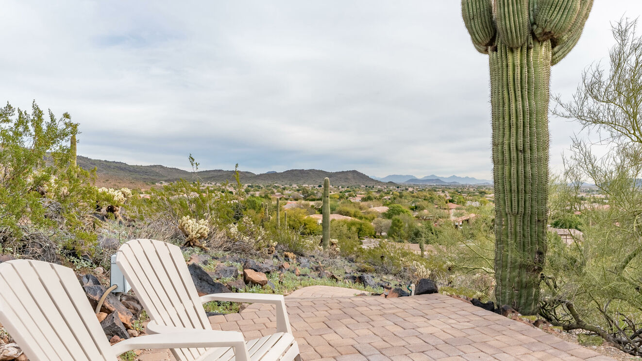 Hilltop Patio with Valley View