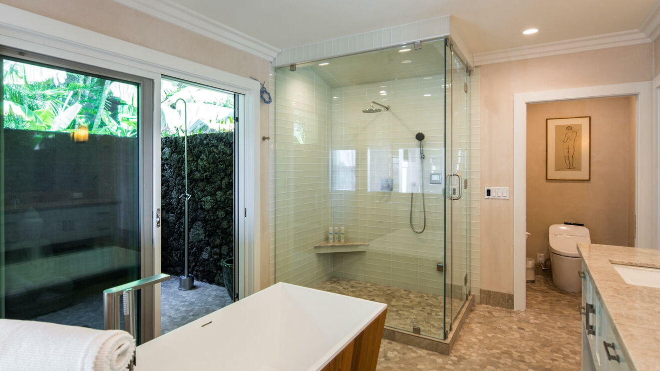 Lower Level Master Ensuite with Steam Shower