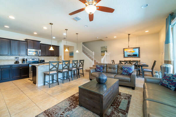 bright and spacious open floor plan