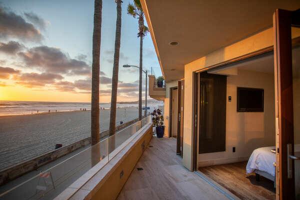 Enjoy Beautiful Sunset Views From Balcony.