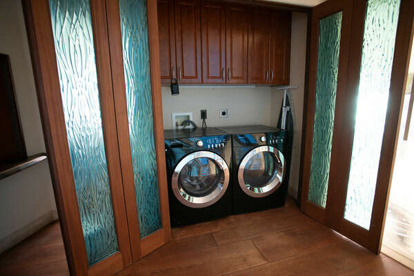 Washer and Dryer on Second Floor.