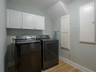 Full size washer/dryer in laundry room