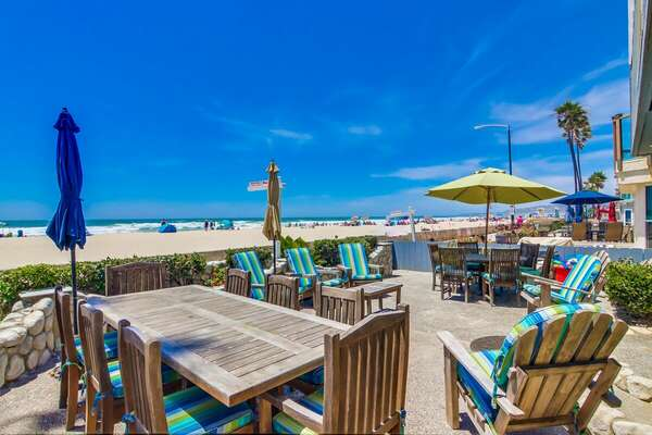 Patio with Ocean Views at this Mission Beach Rental