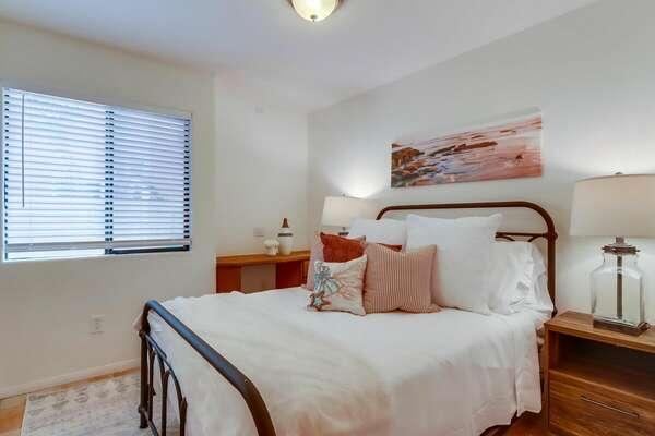 West Guest Bedroom 2 on Ground Floor with Queen Bed