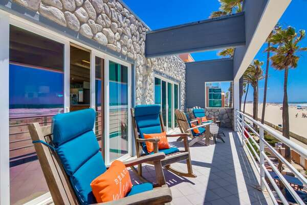 West Master Bedroom Oceanfront Patio on 2nd Floor