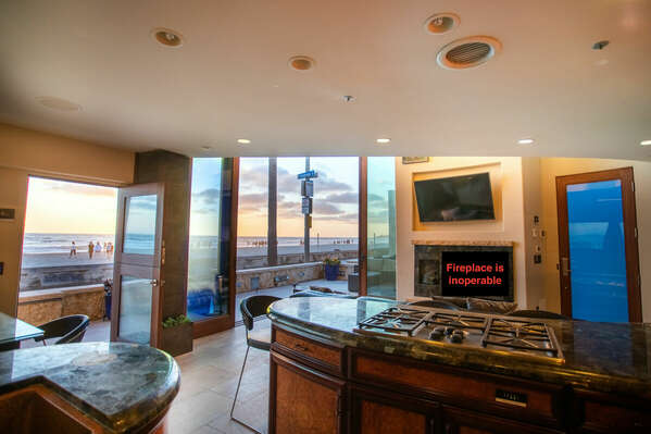 Ocean views from state of the art kitchen!