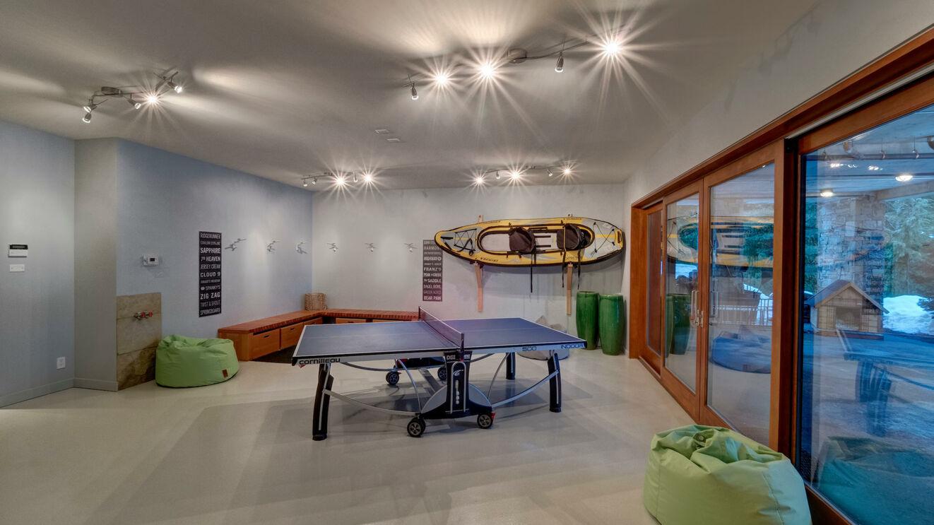 Ski Prep & Ping Pong Room