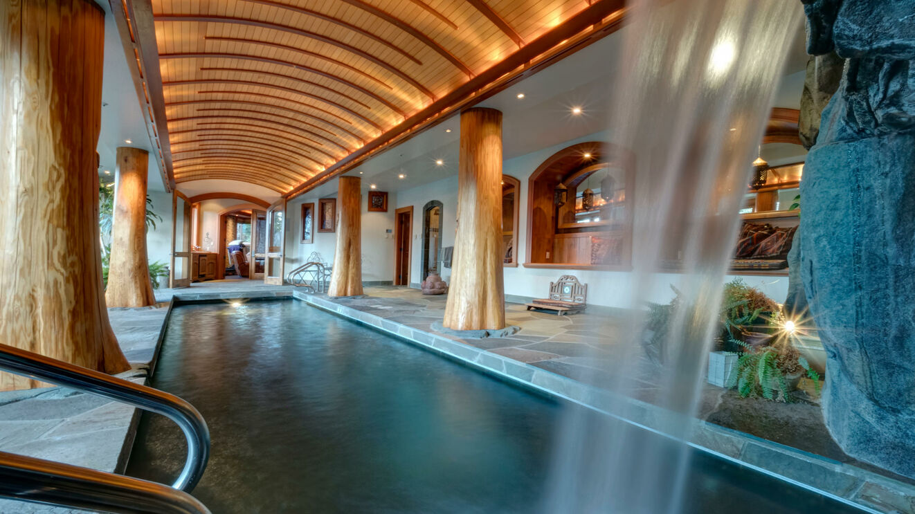 Private Indoor Pool & Waterfall