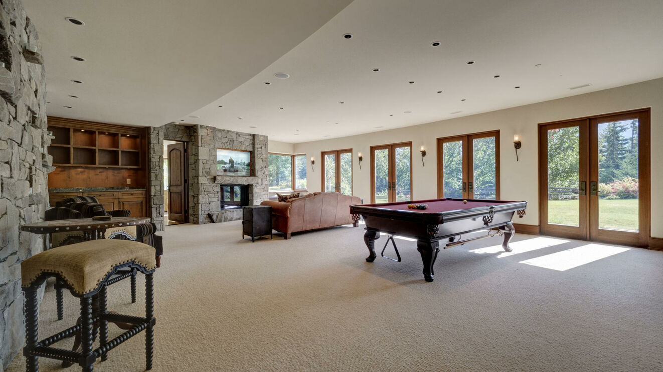 Media & Billiards Room