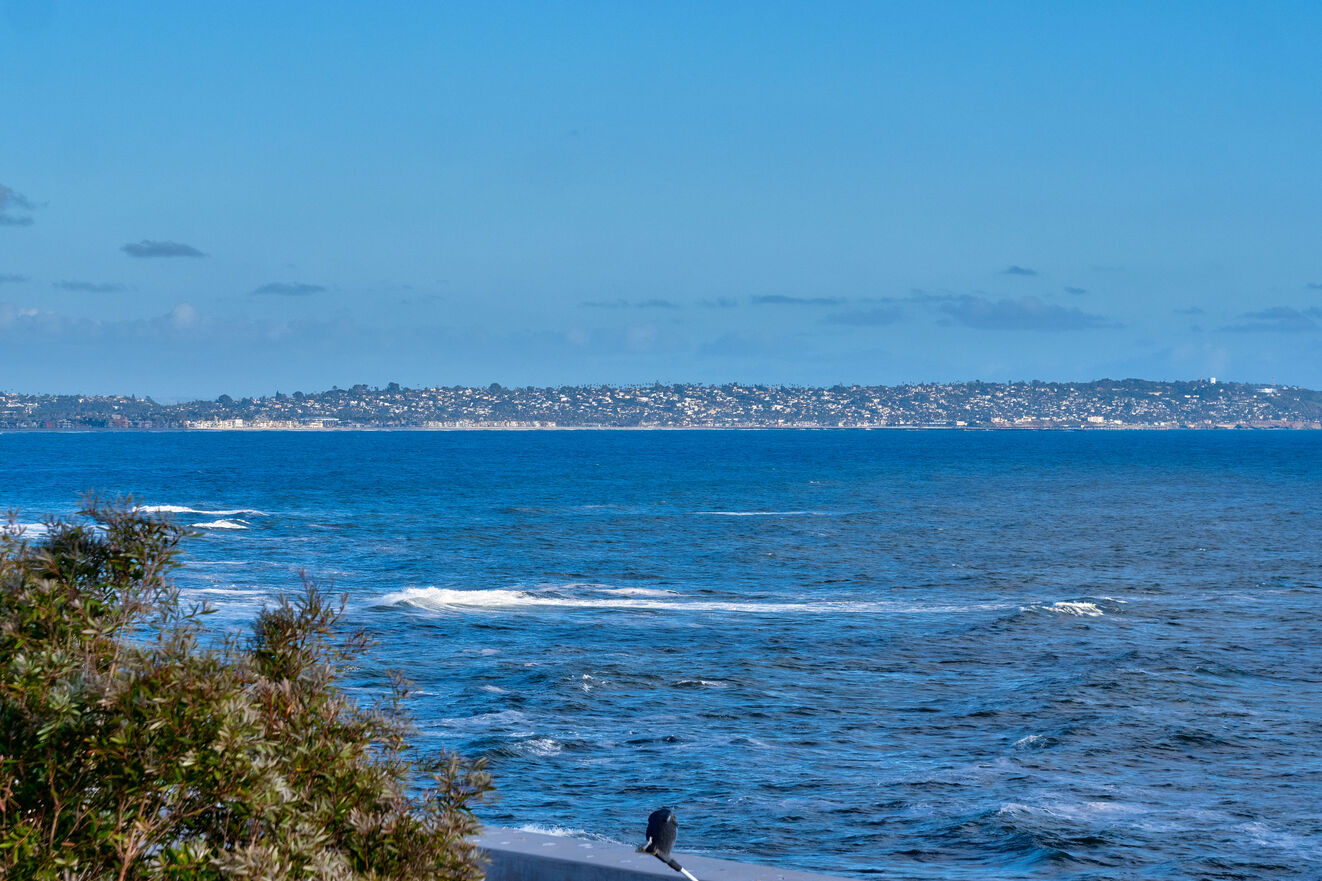 View over Windansea Beach downtown and Point Loma