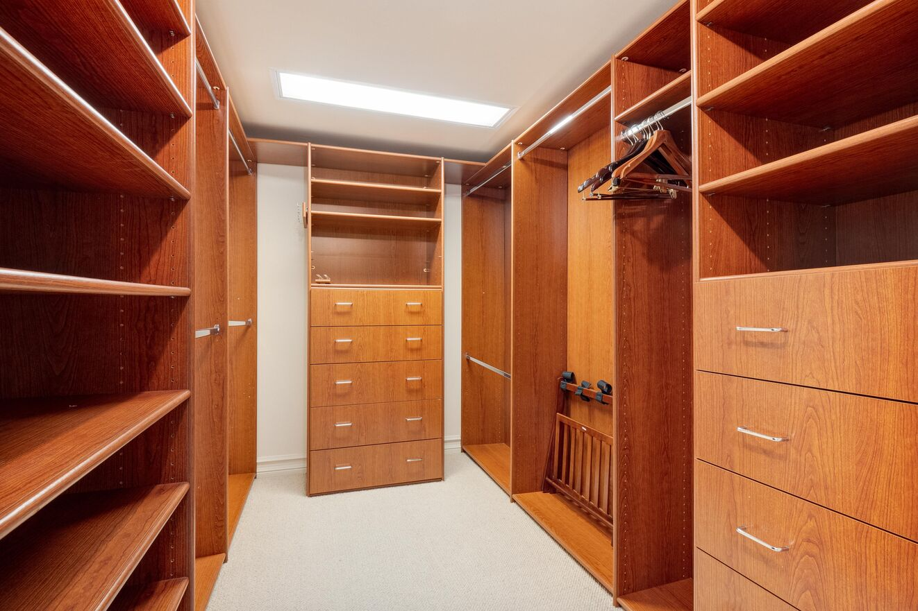 His and Hers Master Closets