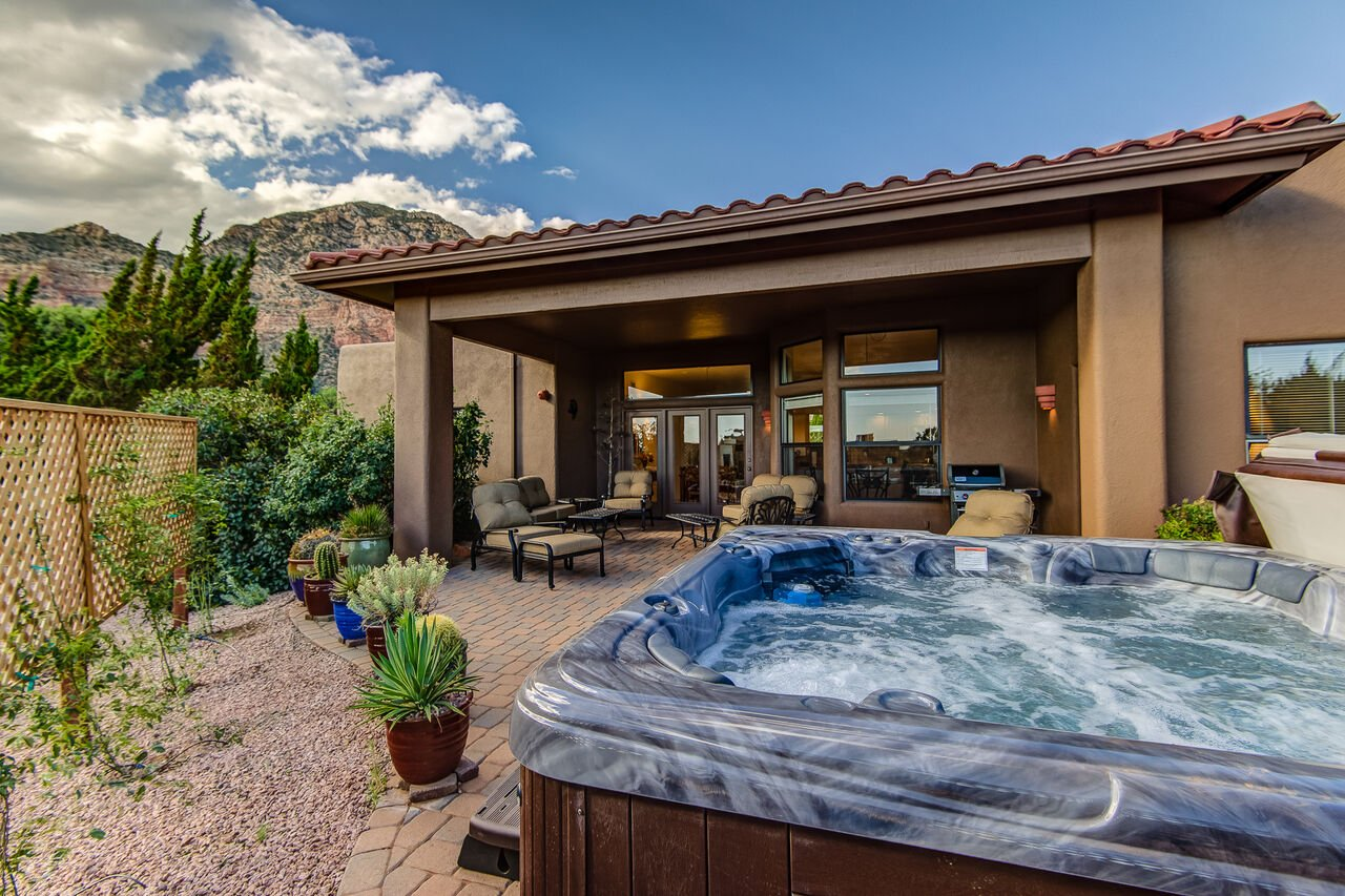 Private Backyard with a New Hot Tub