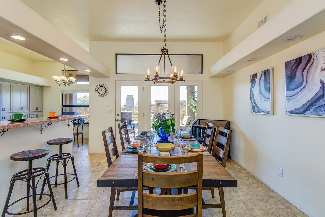 Dining Area with Seating for Six and Kitchen Bar Seating for Two - and Enjoy the Views