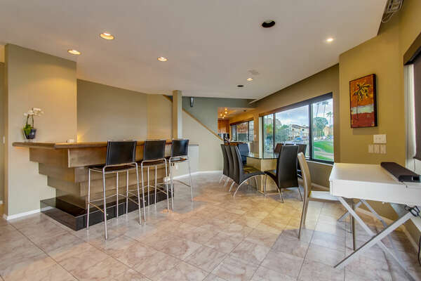 Wet Bar with seating for three