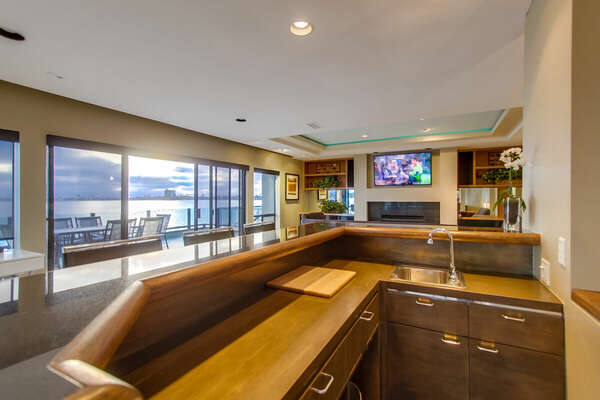 Wet Bar with Sink