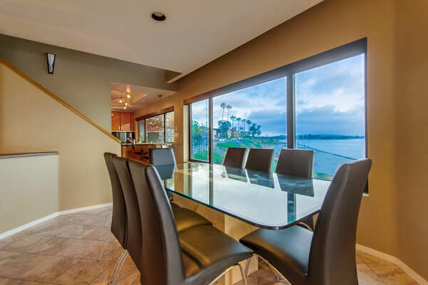 Glass Dining Table for eight