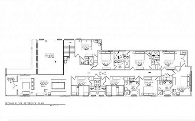 Liberty Hall Floor Plan - 2nd Floor