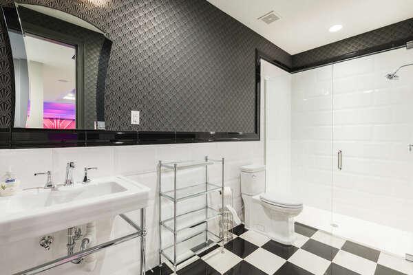 Basement Lounge - Full Guest Bath