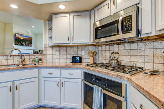 Stainless Steel Appliances Including a New 4-Burner Gas Range