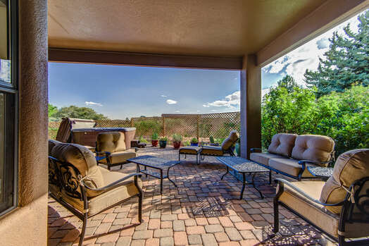 Covered Patio with Patio Seating