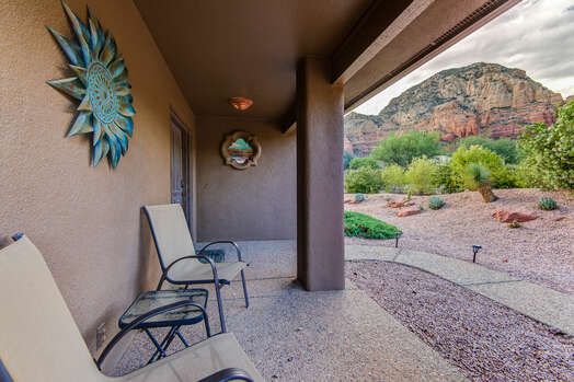 Entry Patio with Mountain Views