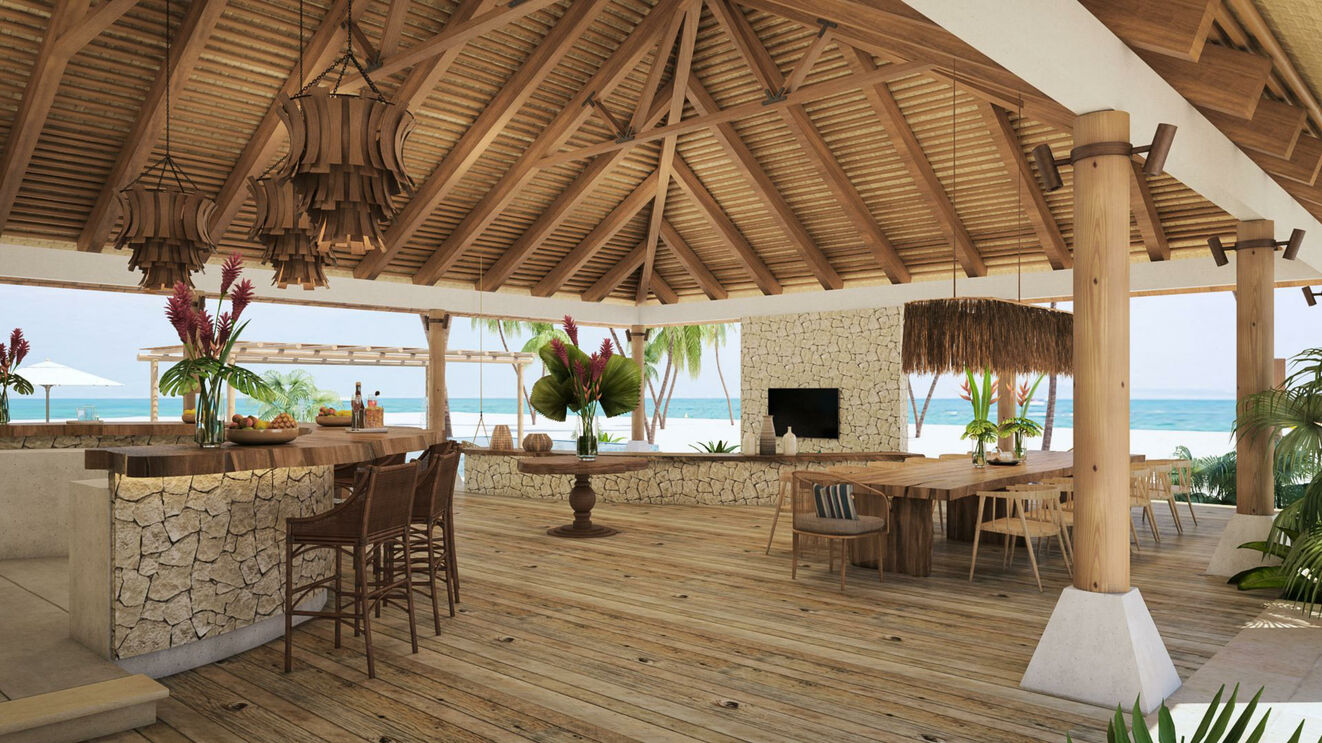 Palapa Bar & Dining Area