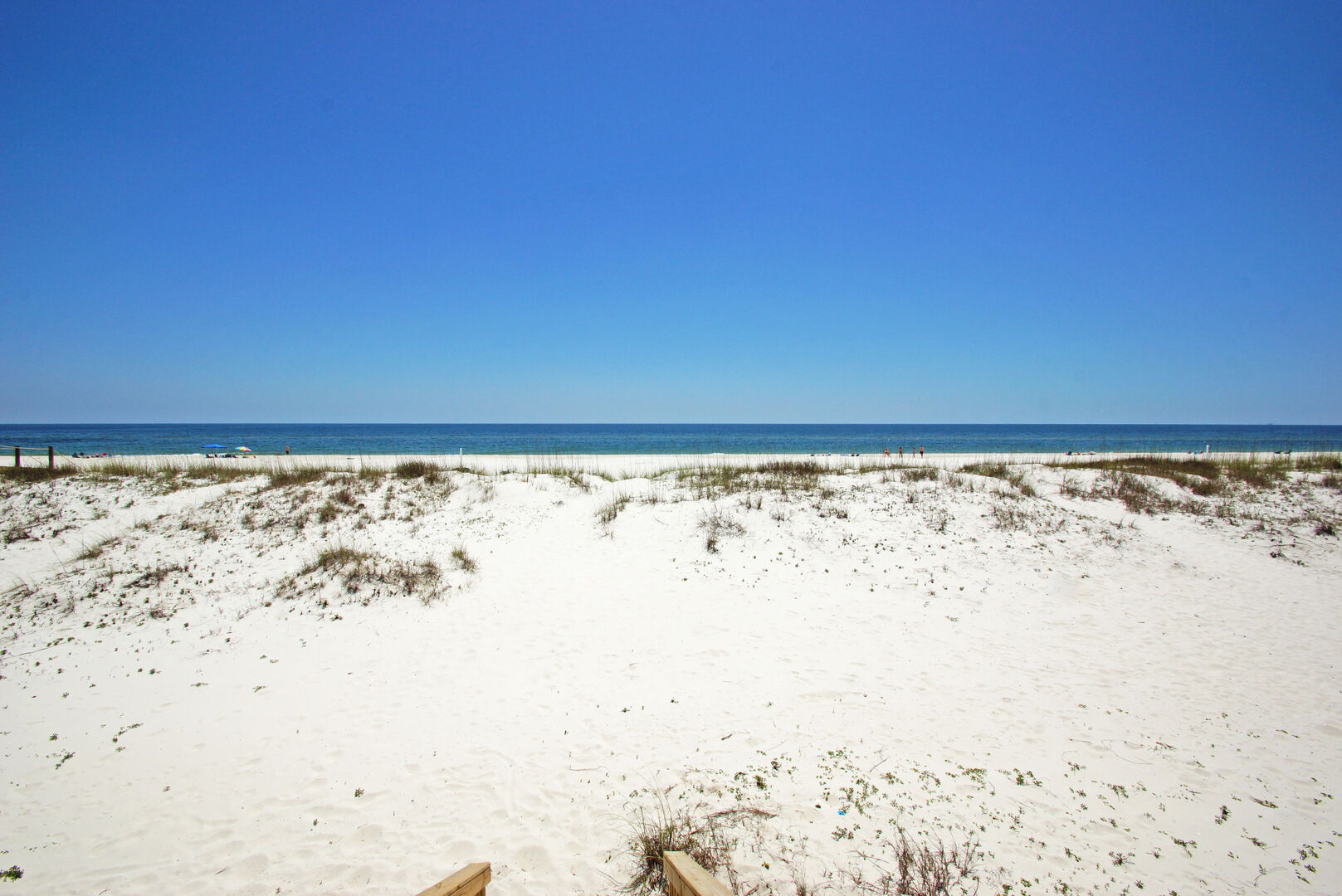 Beach View from our Gulf Shores Beach House Rental with Pool.