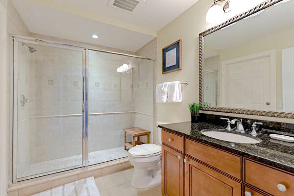 Ensuite bathroom with a walk in shower