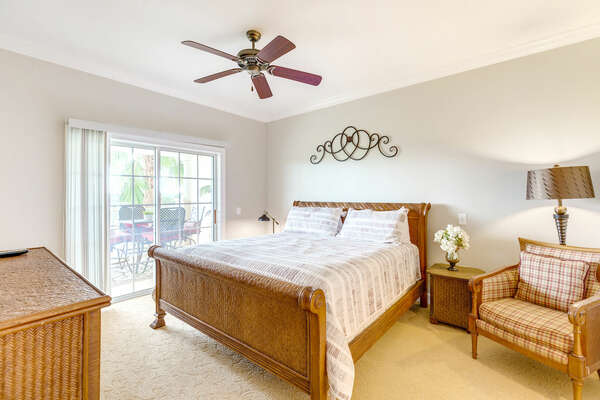 Have a great night's rest in the master bedroom