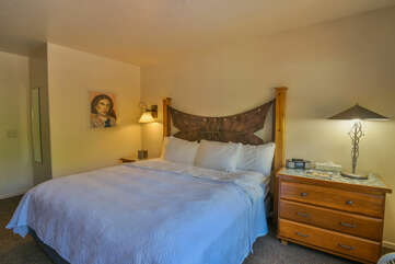 Bedroom with a nightstand