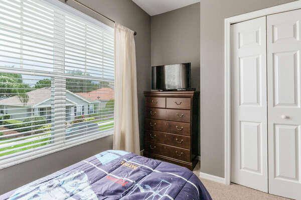 Kids will have their own TV and 2 twin beds