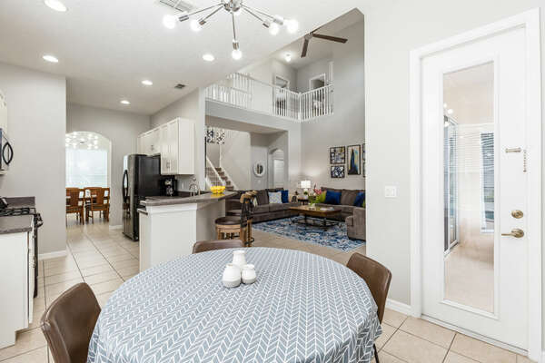 Enjoy a cup of coffee at the breakfast nook