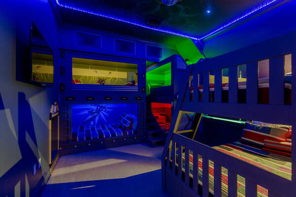 Your little superheroes will be fascinated by this room