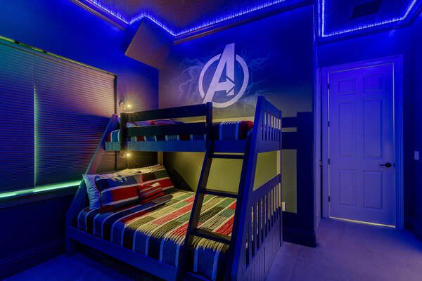 Kids have 3 sleeping options to choose from: Twin/Full, Full/Full, and a Twin/Twin bunkbeds