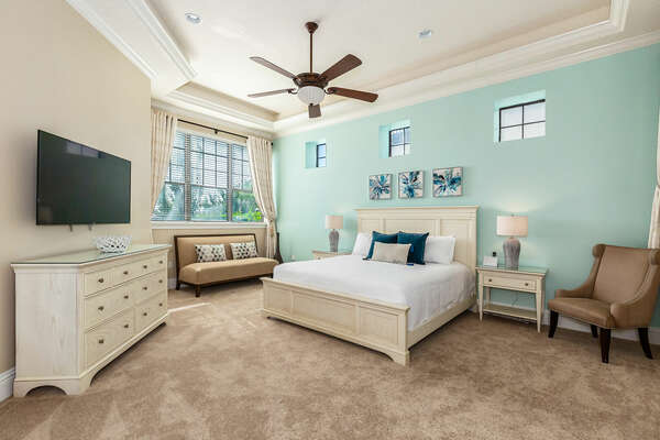 Second master bedroom featuring a king-size bed