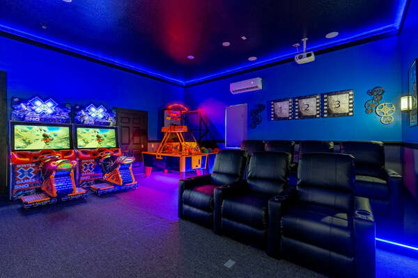 Spend hours in this amazing games room