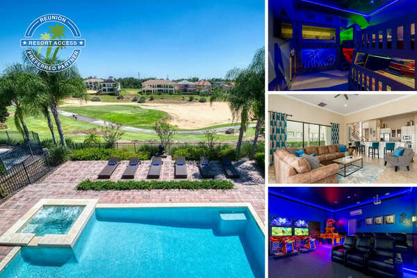 Welcome to Muirfield Paradise, a 6 bedroom home with custom kids bedrooms, movie room, private pool and beautiful views | PHOTOS TAKEN: August 2020