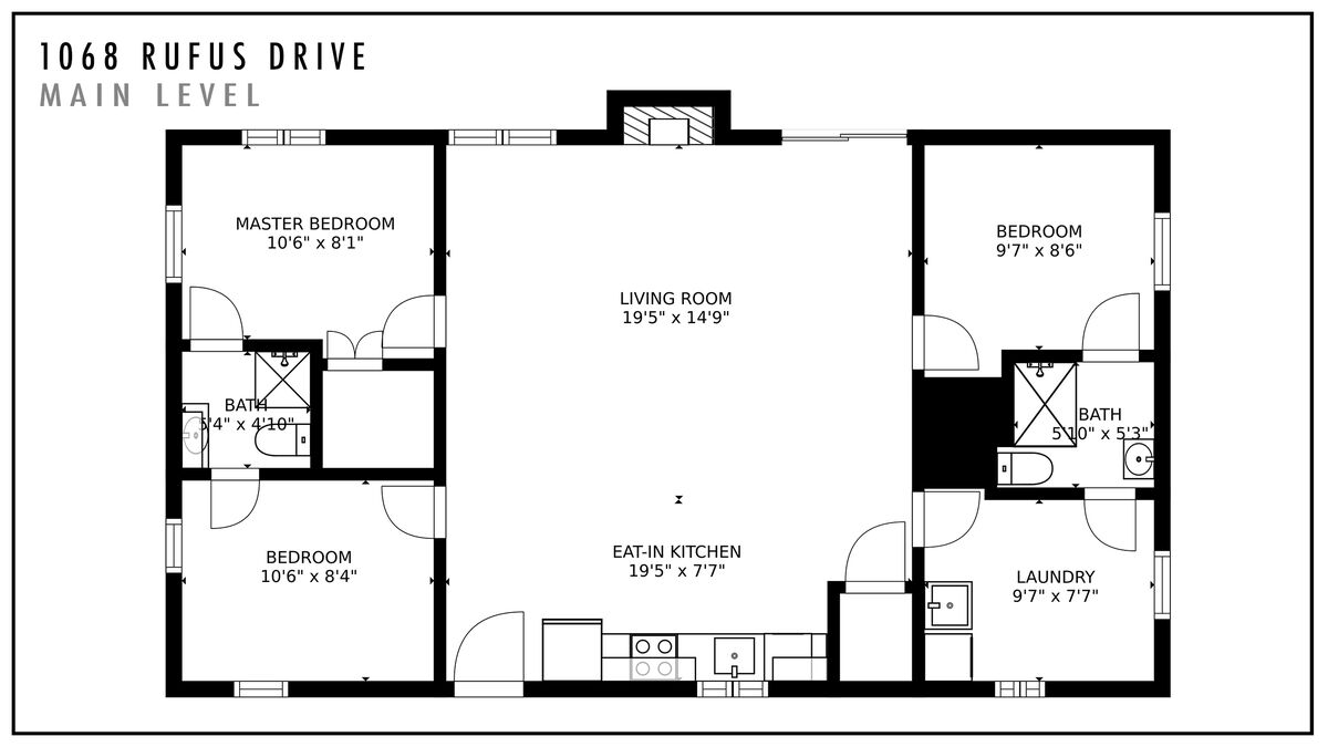 Floor plan of this waterfront Smith Mountain Lake vacation rental.