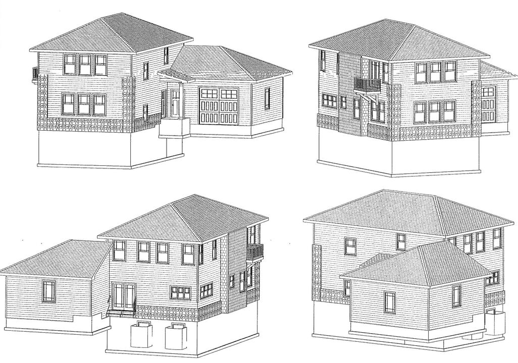 Exterior Rendering of the Home- 5 Bedrooms, 4 bathrooms, one car attached garage.