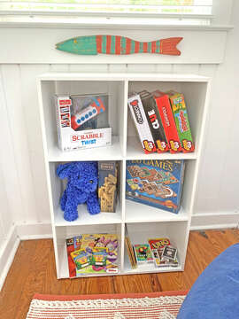 Bookshelf Filled with Entertainment for Kids
