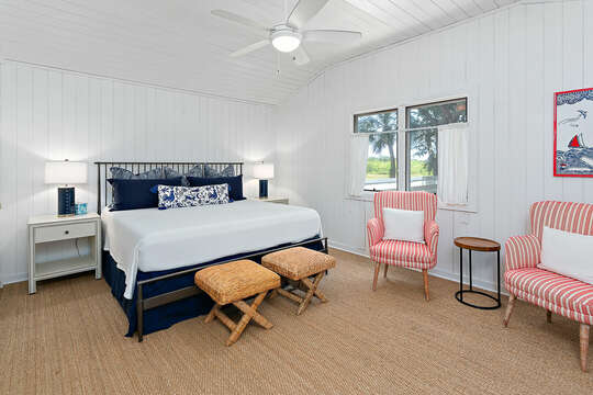 A Spacious Bedroom in our Beachfront Rental in St. Simons Island, GA