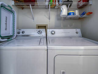 Full size washer/dryer for your convenience