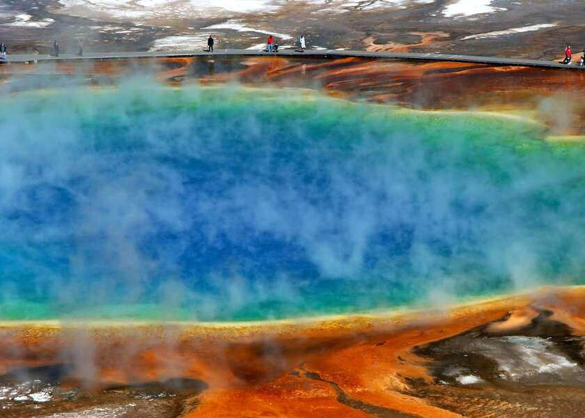 Henrys Hawk ~ make sure to visit the Grand Prismatic Spring in Yellowstone