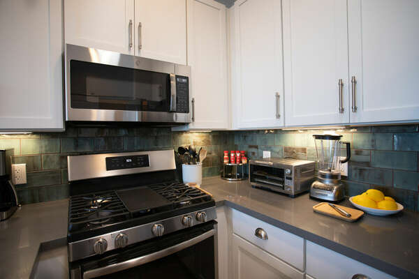 Fully Stocked Kitchen with New Appliances