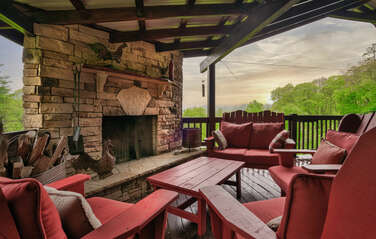 Patio with Wood Burning Fireplace