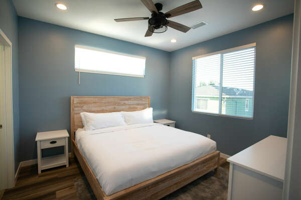 Master Bedroom with King Bed and Ceiling Fan